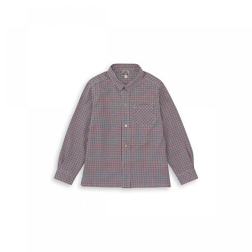 Macao Boy Shirt, Carreaux rouge - BONTON