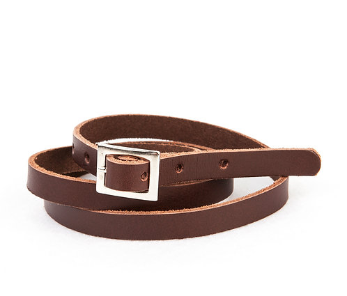 Leather Belt, Brown - Tocoto Vintage