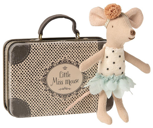Little Miss Mouse In Suitcase, Little mouse - Maileg