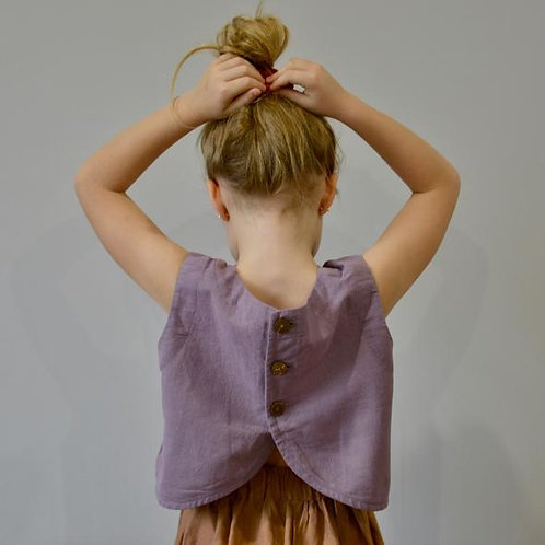 The Wendy Top, Lilac - Mysie & Nola The Label