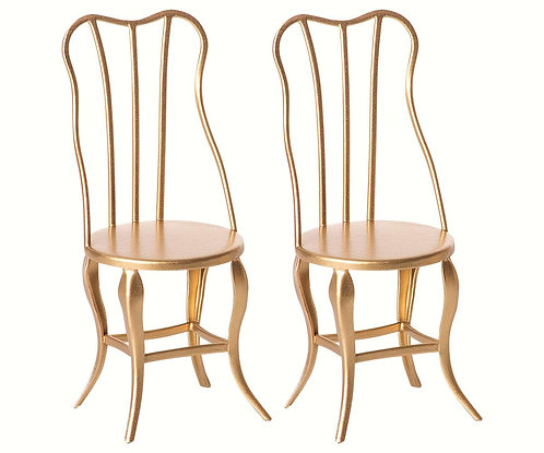 Vintage Chairs Micro Gold 2pcs - Maileg