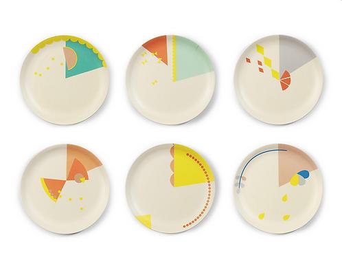 Set 6x cake plates 16 cm