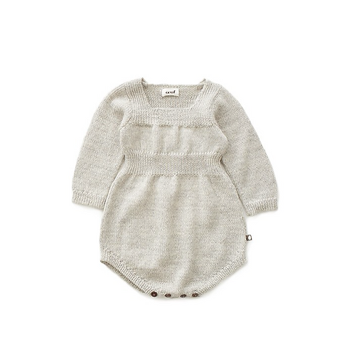 Knit Romper, Light Grey - Oeuf