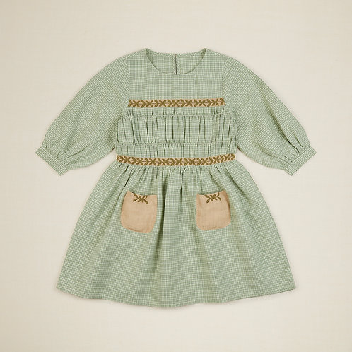 Edith Dress, Worker Check - Apolina Kids