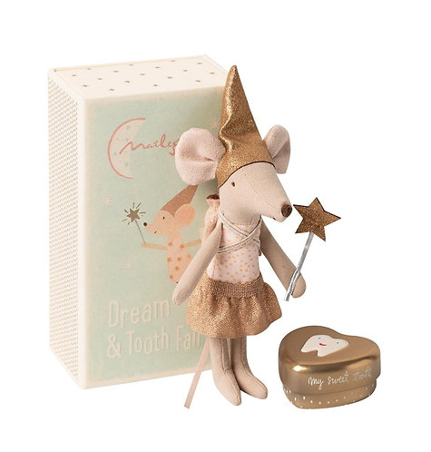 Tooth Fairy Sister Mouse in box - Maileg