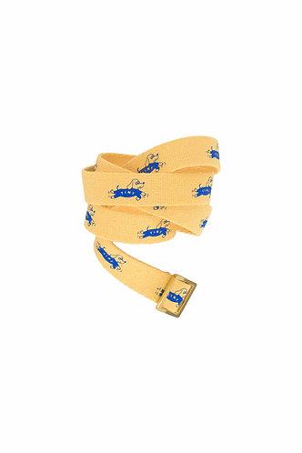 Dog Belt, Yellow/Iris Blue - Tiny Cottons