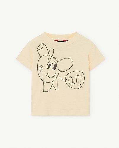 Rooster Baby T-Shirt, Yellow Oui - TAO