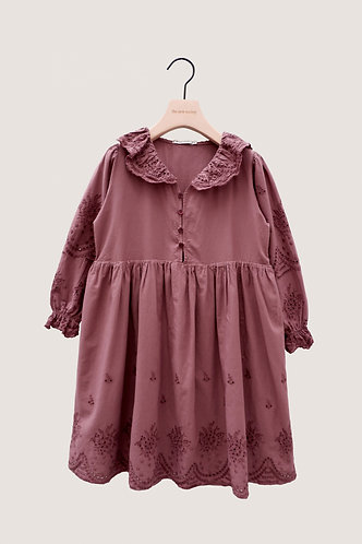 Beatrice Dress, Rose Taupe - The New Society