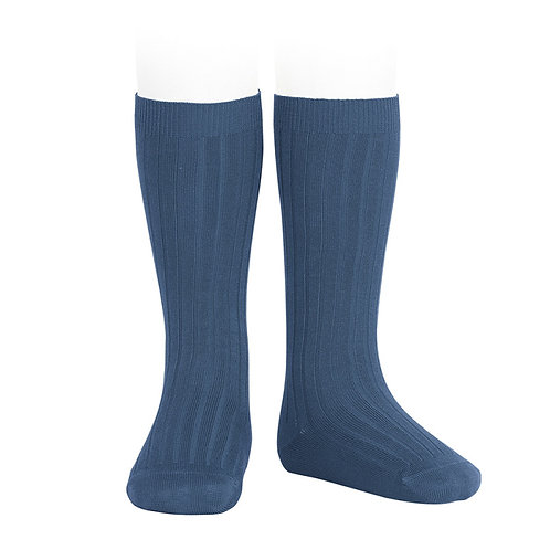 Rib Knee High Sock, Cobalto 470 - Condor