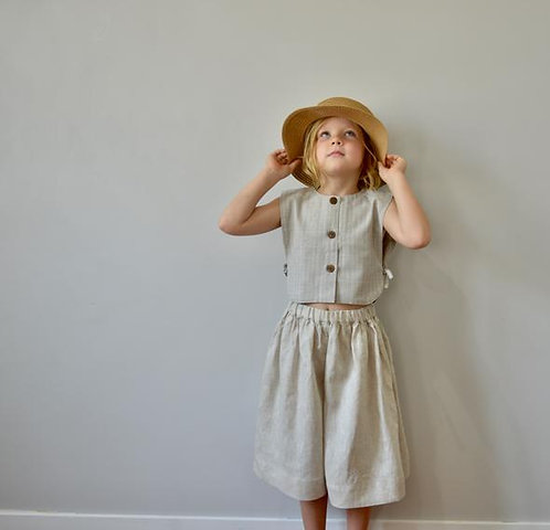 The Zoey Pants, Natural - Mysie & Nola The Label