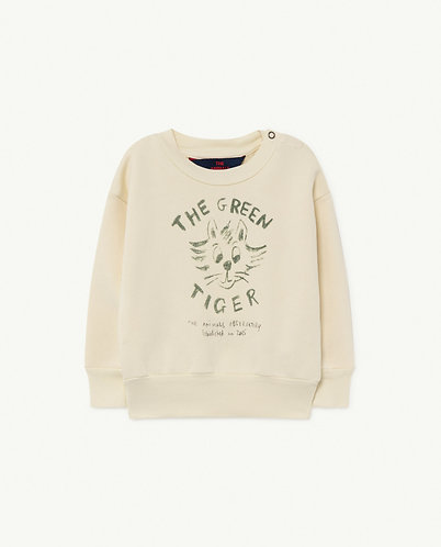 Bear Baby Sweatshirt, White Tiger - TAO