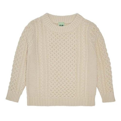 Structure Sweater, Ecru - Fub