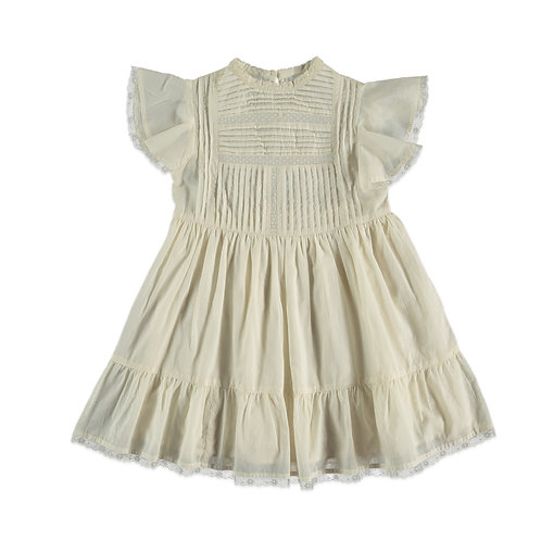 Petunia Dress, Off White - the new society
