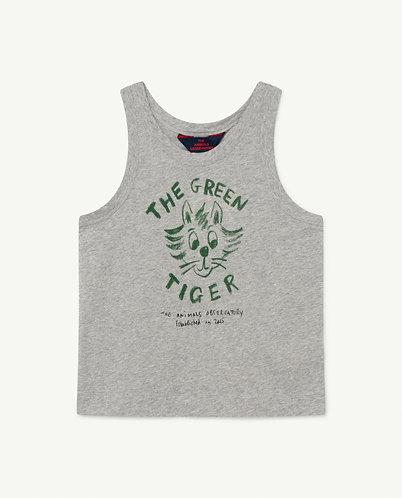 Frog Kids T-Shirt, Grey Tiger - TAO