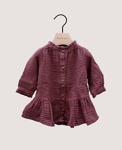 Lua Baby Dress, Rose Taupe - the new society