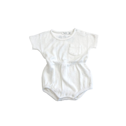 Terry Fabric Body, White - Tocoto Vintage