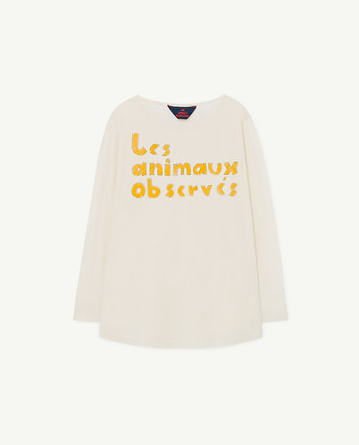Deer Kids T-shirt, White Les Animaux - TAO