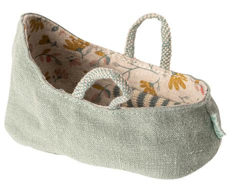 Carry Cot MY,  Dusty Green - Maileg