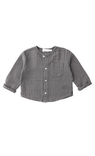 Pocket Shirt, Grey - Tocoto Vintage