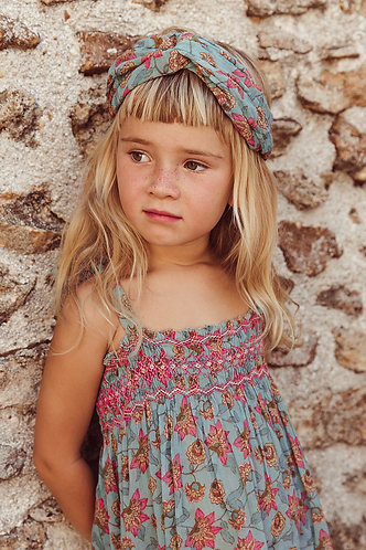 Yuriria Headband, Turquoise Flowers - Louise Misha