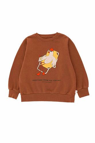 Bird Sweatshirt, Cinnamon - Tiny Cottons