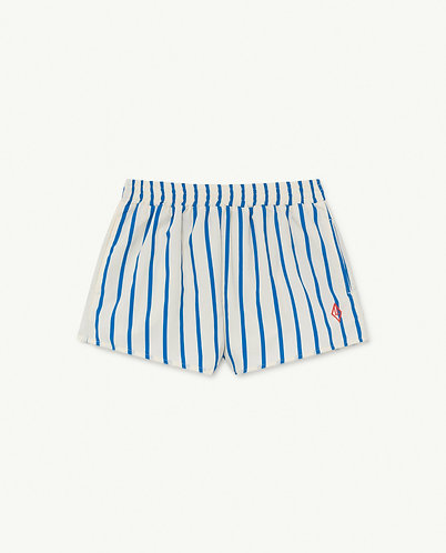 Puppy Kids Swimsuit, White Stripes - TAO