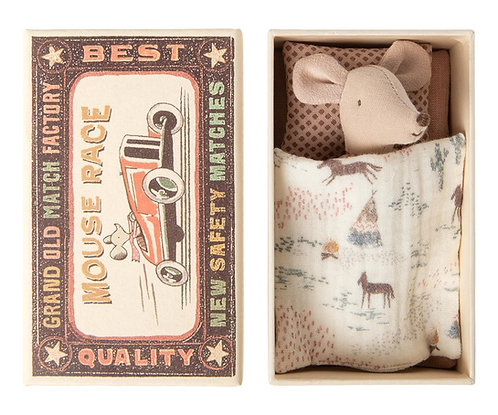 Little Miss Mouse In Matchbox, Little mouse - Maileg