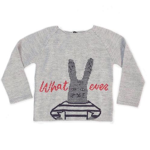 Whatever Sweater, Grey/Multi - Oeuf