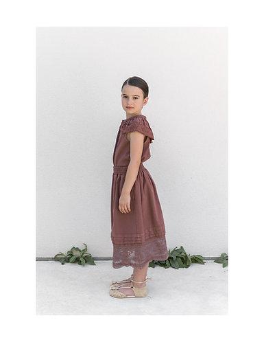 Petticoat Skirt, Burgundy - Belle Chiara
