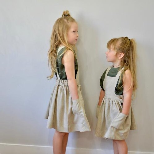 The Charlotte Pinafore, Natural - Mysie & Nola The Label