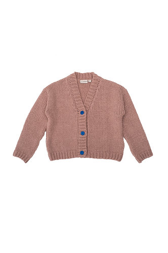 Knitted Jacket, Pink Beige - The Campamento
