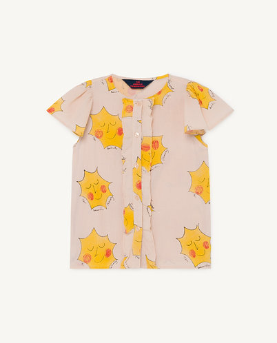 Parakeet Kids Blouse, Rose Suns - TAO