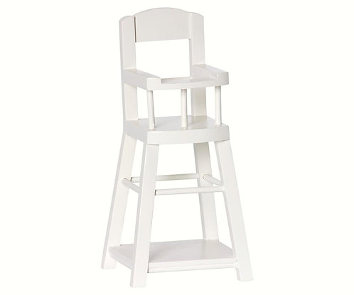 Wooden High Chair For Micro, White - Maileg