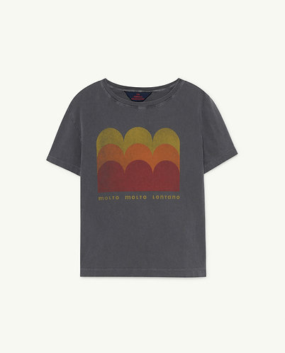 Rooster Kids T-Shirt, Black Molto - TAO