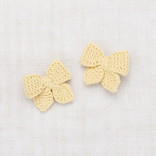 Baby Puff Bow Set, Straw - Misha &Puff