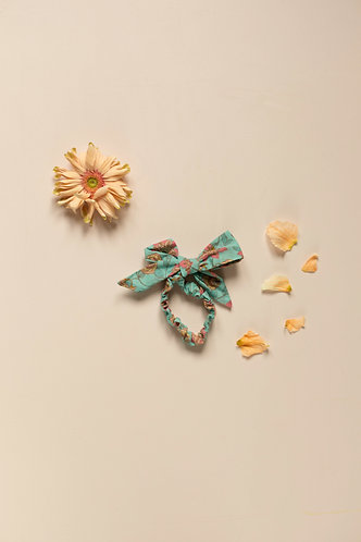 Kim Scrunchie, Turquoise Flowers - Louise Misha
