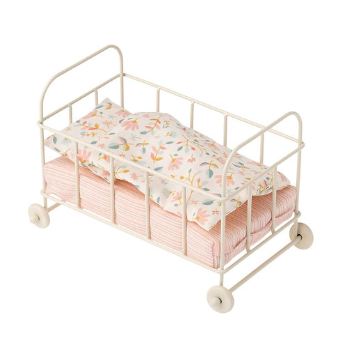 Baby Cot Metal Micro, Off White - Maileg