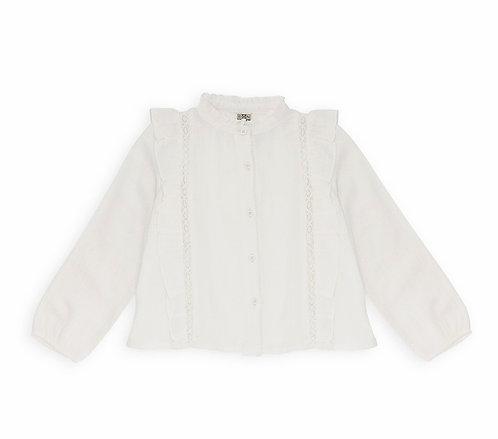 Lace Blouse, Off White - BONTON