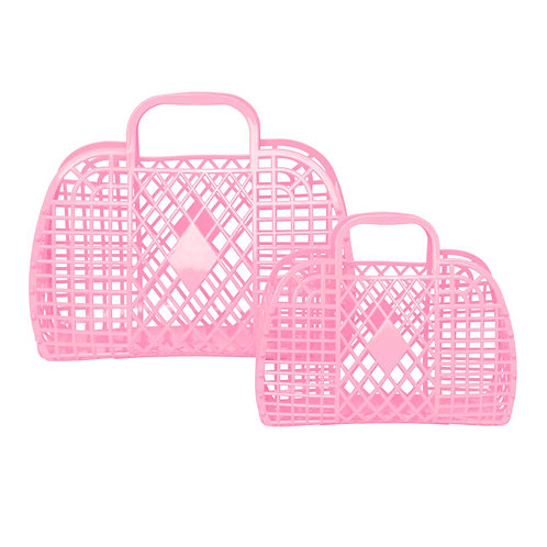 Retro Basket, Bubblegum Pink - Sun Jellies