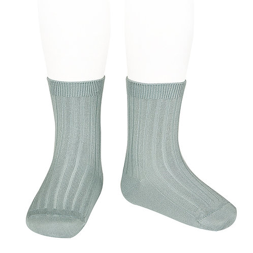 Rib Short Sock, Dry Green 756 - Condor