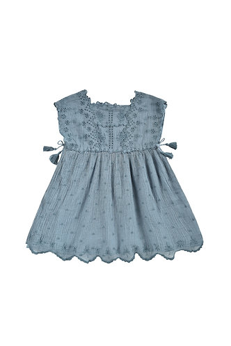 Leilani Dress, Storm Plumetis - Louise Misha