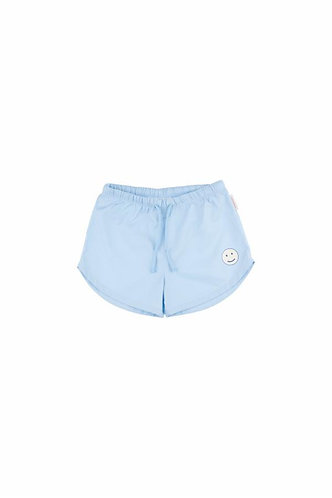 Happy Face Trunks,Mild blue/Off-white  - Tiny Cottons