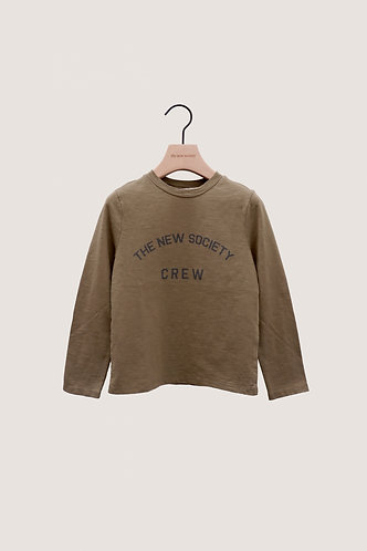 The New Society Crew Tee, Khaki - the new society