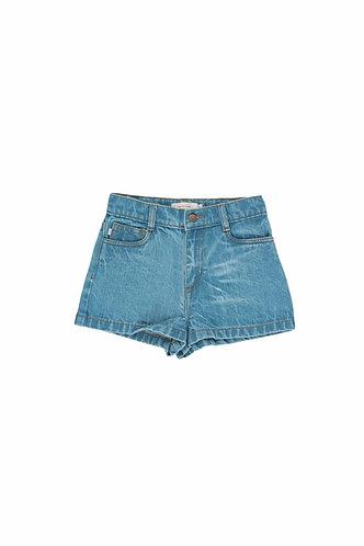 Denim Short, Light Denim - Tiny Cottons