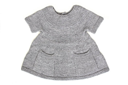 Alpaca Adele Knitted Girl Dress Cloud Grey - MIOU