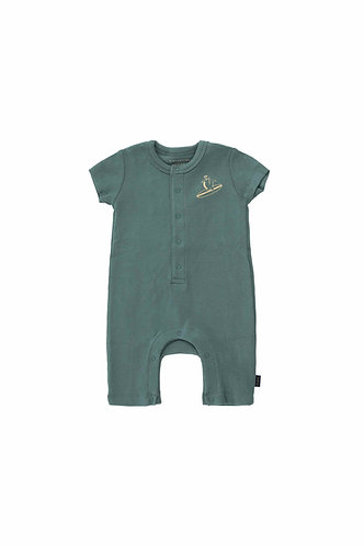 Courageous One-Piece, Dark Teal - Tiny Cottons