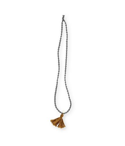 Necklace Wool Pom Pom, Biscuit - Búho