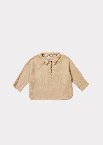 Camber Baby Shirt, Almond - Caramel