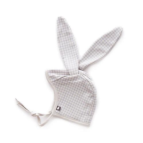 Bunny Hat, Light Grey/Blue Checks - Oeuf