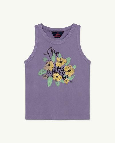 Frog Kids T-Shirt, Purple Flowers - TAO
